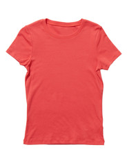 Coral t-shirt isolated