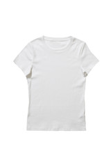 White t-shirt isolated