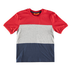 Three colors t-shirt isolated