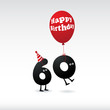 Funny Birthday card. Vector.