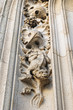 exterior decor of St. Michael cathedral in Brussels