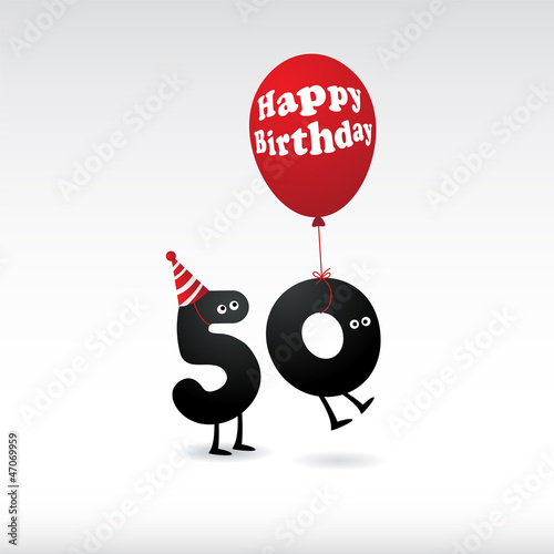 Funny Birthday card - Vector.