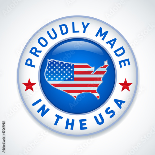 Made in the USA label. Vector.