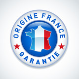 Made in France guaranteed label - Vector.