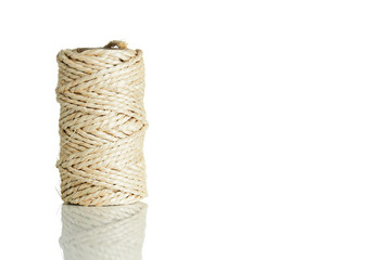 Isolated brown rope