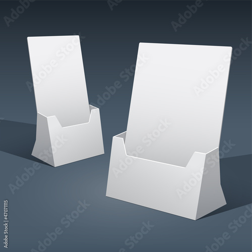 Blank Brochure Holders for Designers. Vector.
