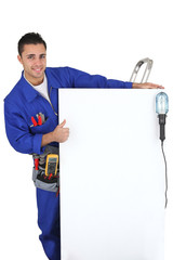 electrician showing a panel