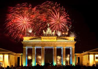 Berlin, Brandenburger Tor, Feuerwerk, Silvester