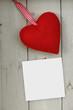 Herz mit Zettel
