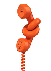 communication problem - phone handset tied in knot