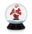 santa claus in snow dome