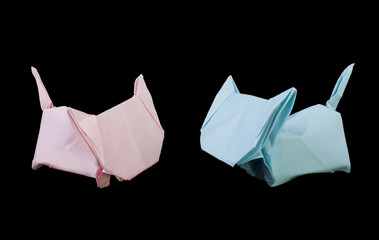 Two cats origami