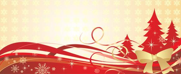 Golden christmas banner