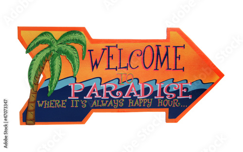 A Tropical Welcome Sign