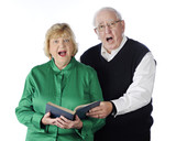 Singing Senior Couple