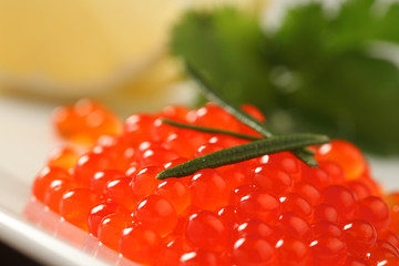 red salmon caviar