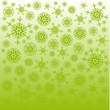 grüne flocken