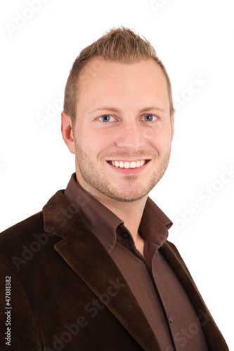 Portrait eines jungen Mannes isoliert