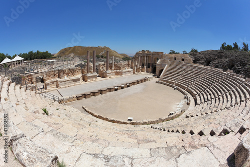 Magnificently Roman amphitheater in Israel