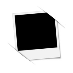 Polaroid Bild eingeklemmt in Schlitze - Foto Bilderrahmen