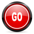 go round red glossy icon on white background
