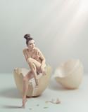 Fototapeta równowaga - nagi - Kobieta