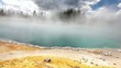 Black Pool hot spring in West Thumb Geyser Basin. Yellowstone Na