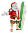 Surf Santa