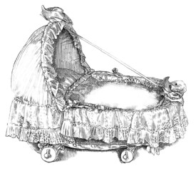 Cradle - Berceau - Wiege - 19th century