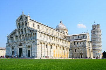 Pisa, Piazza dei miracoli, with the leaning tower.