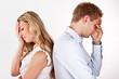 Leinwanddruck Bild - Ehestreit