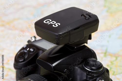 GPS Empfänger auf einer Spiegelreflex Kamera - geotagging
