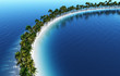 Einsame Insel Konzept - Rundbogen
