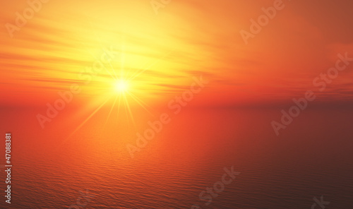 canvas print picture Hot Sunset background 11