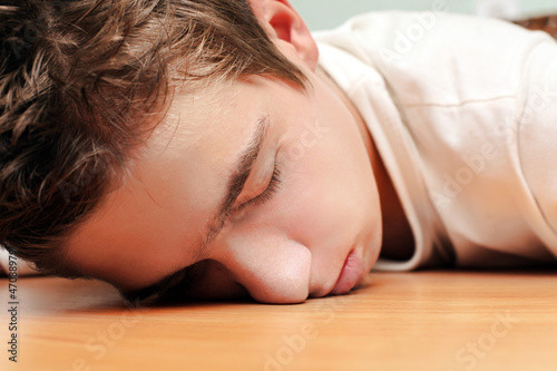 Young Man Sleeping