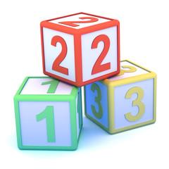 Number blocks 123 piled up