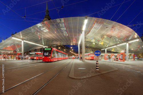 Tram station, Bern, Switzerland - 47089351