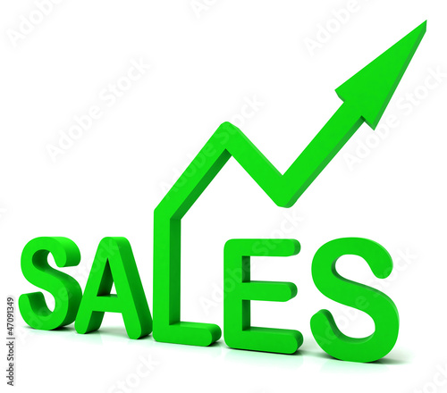 Sales Word Shows Business Or Commerce