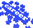 Career Puzzle Showing Job Skills