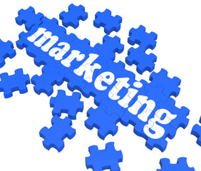 Marketing Puzzle Showing Advertising Sites