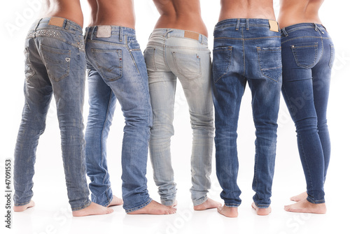 Group of jeans