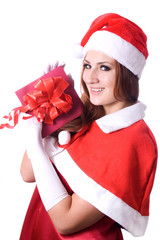 Pretty Santa girl portrait