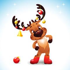 Funny reindeer christmas
