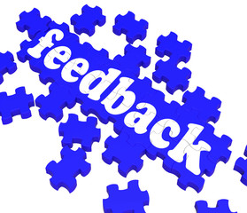 Feedback Puzzle Shows Satisfaction Surveys