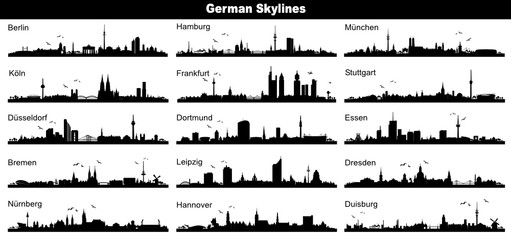 German Skylines - black