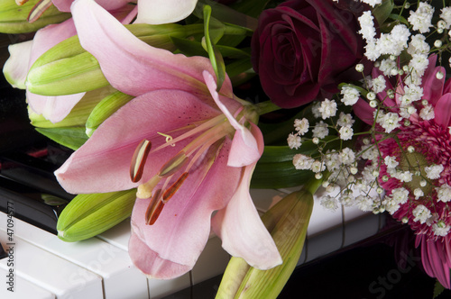 Bouquet on a Piano