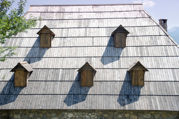 Shingles Roof And Dormer Windows