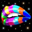 Sensual Lips Psychedelic Rainbow-Bocca Sensuale Arcobaleno