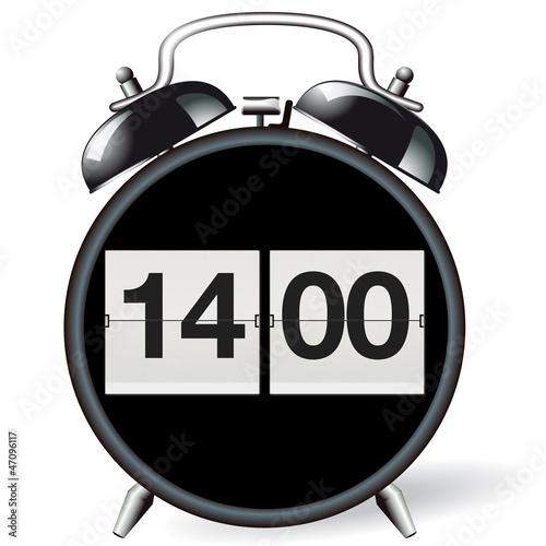 Wecker retro - Uhrzeit 14:00 - 47096117