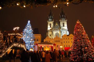 Christmas in Old-town square (Staromestske namesti), Prague